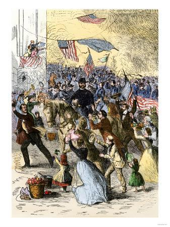 General Ambrose Burnside and His Rhode Island Troops Entering Knoxville, During the Civil War, 1863