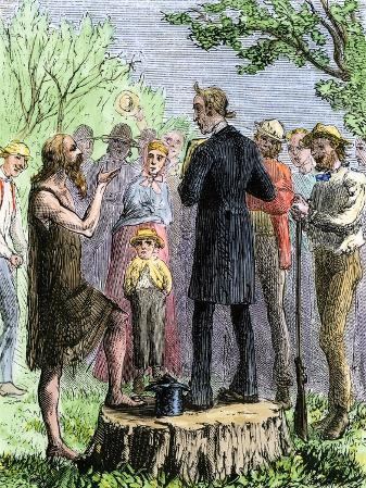 Johnny Appleseed Addressing a Preacher Among Settlers of Ohio Territory