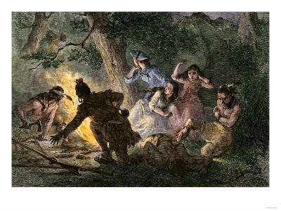 Daniel Boone Rescues His Daughter from Native American Captors