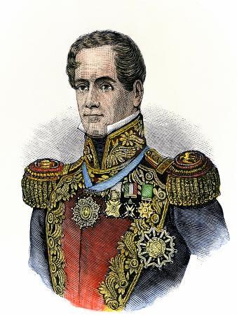Mexican General Antonio Lopez De Santa Anna