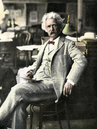 Samuel Clemens in New York Visiting His Publishers, 1900s