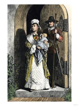 Hester Prynne Wearing the Scarlet Letter a in a Scene from Hawthorne's Novel