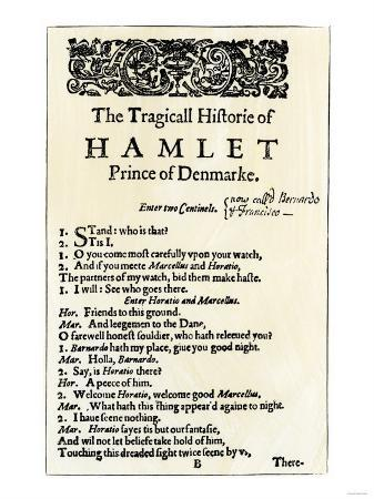 Opening Page of Hamlet