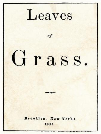 First Edition Title Page of Whitman's Leaves of Grass