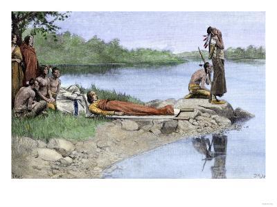 Death of Wampanoag Chief Wamsutta, or Alexander