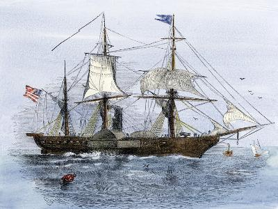 Uss Mississippi, Flagship of Mathew Perry's Expedition to Japan, 1852