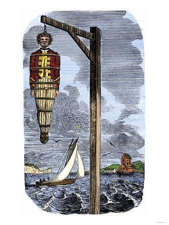Captain Kidd in Chains, Executed for Piracy in England, 1701
