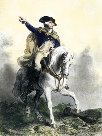 General George Washington in Battle on Horseback, Revolutionary War