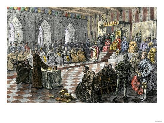 martin luther before holy roman emperor charles v at worms 1521