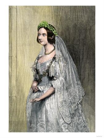 Queen Victoria on Her Wedding Day