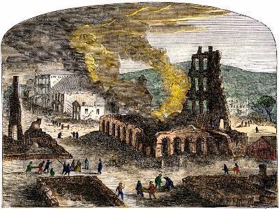 Confederate Quantrill Raid Burns Lawrence, Kansas, 1863