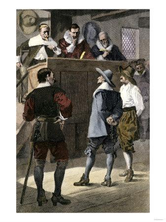 Quaker Man on Trial in an English Courtroom