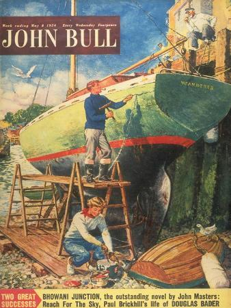 John Bull, Nautical Boats Painting Magazine, UK, 1954