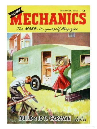 Home Mechanics, Holiday DIY Caravans Magazine, UK, 1950