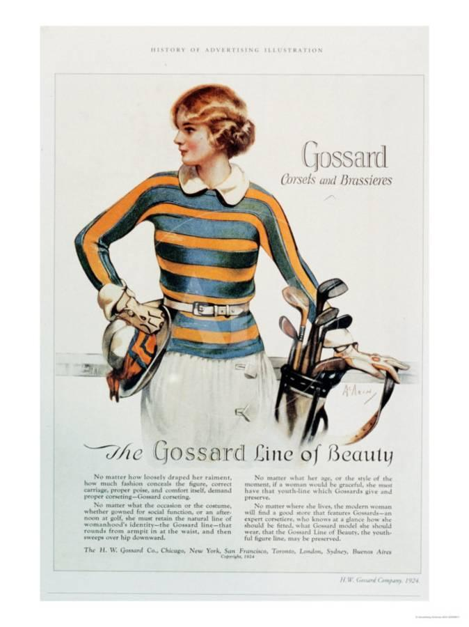 Gossard, Womens Underwear Golf, USA, 1920