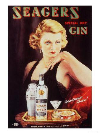 Seagers, Glamour Gin Cocktails, UK, 1930