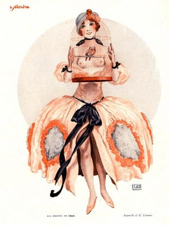 Le Sourire, Erotica Caged Birds Magazine, France, 1920