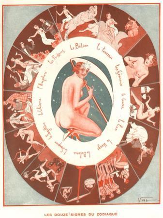 Le Sourire, Signs of the Zodiac Le Sourire Erotica Magazine, France, 1930