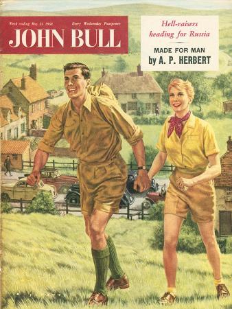 John Bull, Holiday Hiking Walking Trekking Outdoors Magazine, UK, 1958