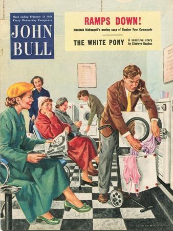 John Bull, Launderettes Washing Machines Appliances Magazine, UK, 1954