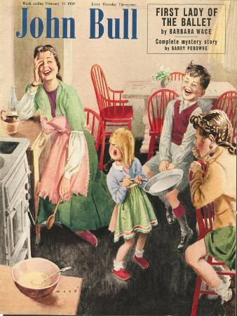 John Bull, Cooking Pancakes Magazine, UK, 1950