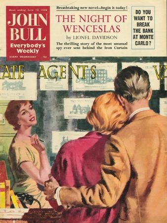 John Bull, Property Estate Agents Flat Hunting, Buying a New Home Magazine, UK, 1959