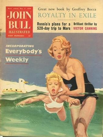 John Bull, Holiday Swimming Lessons Magazine, UK, 1950