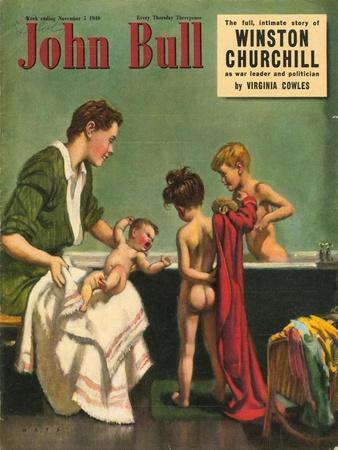 John Bull, Bathtime Magazine, UK, 1949