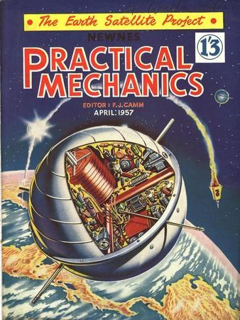Practical Mechanics, Visions of the Future, Satellites and Space Exploration Magazine, UK, 1950