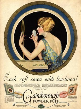 Pampering Make-Up Makeup Gainsborough Face Powder, USA, 1910