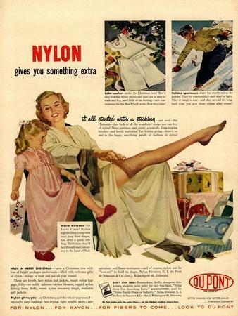 Nylon by DuPont, Nylons Stockings Hosiery, USA, 1940