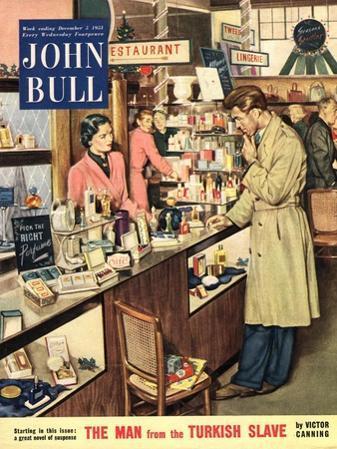 John Bull, Shopping Cosmetic Counter Make-Up Makeup Womens Magazine, UK, 1953
