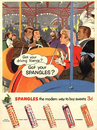 Spangles, Sweets, UK, 1950