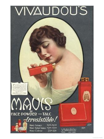 Mavis Talcum Powder Vivaudou's, USA, 1910