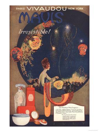 Mavis Talcum Powder, UK, 1910