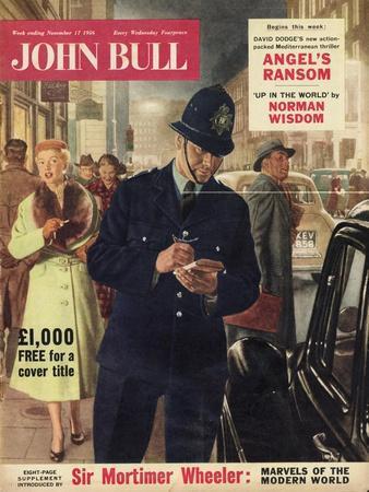 John Bull, Police Giving Parking Tickets Magazine, UK, 1956