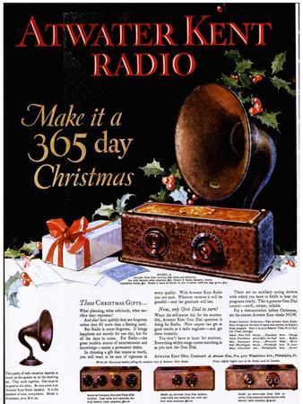 Atwater Kent Radio, Radios, USA, 1920