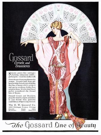Gossard, Womens Corsets Underwear Girdles Bras, USA, 1920