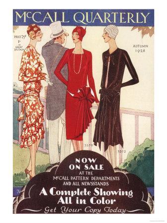 McCall Quarterly, Womens Art Deco, USA, 1920