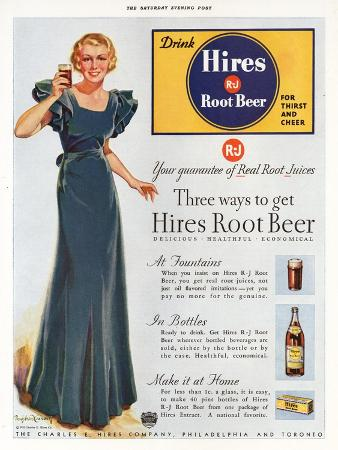 Hires, Root Beer, USA, 1930