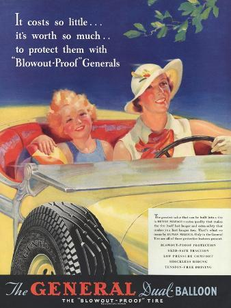 General, Tyres Women Woman Drivers Driving, USA, 1930