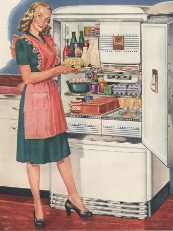 Hotpoint, Women in the Kitchen, Refrigerators, USA, 1940