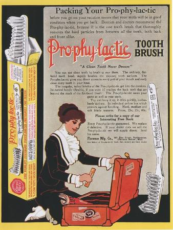 Pro-phy-lac-tic, Toothbrushes, USA, 1910