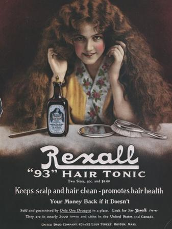Rexall, Hair Shampoo Tonic, USA, 1910