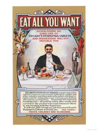 Stuart's Dyspepsia, Eating Restaurants, Greed, Gluttony, USA, 1910