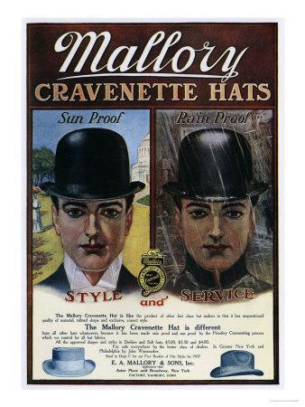 Mallory, Hats Mens Bowler, USA, 1910