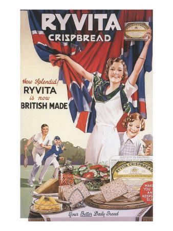 Ryvita, Crisp Bread Patriotism Empire, UK, 1930