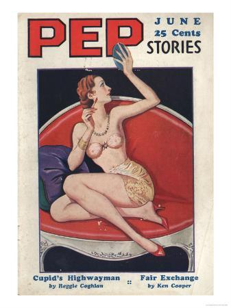 Pep Stories, Glamour Pin-Ups Pulp Fiction Magazine, USA, 1930
