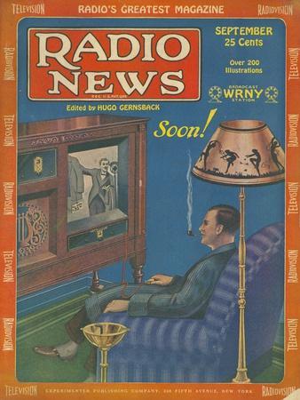 Radio News, Visions of the Future, Futuristic Radios Magazine, USA, 1928