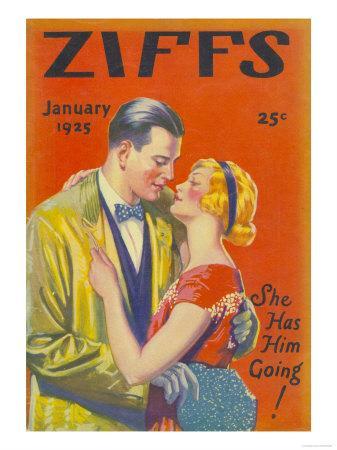 Ziffs, Kissing Magazine, USA, 1925